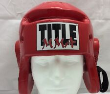 Title MMA Kick Boxing Kickboxing Training Head Gear USSSA Size Small Protective