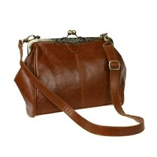Retro Vintage Kiss Lock Imitation Leather Shoulder Purse Handbag Totes Bag  W4J1