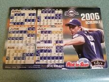 MILWAUKEE BREWERS 2006 SGA MAGNETIC SCHEDULE FEATURING J. J. HARDY