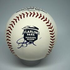 Giancarlo Stanton signed Rawlings Marlins Inaugural Season Baseball JSA HOF A369