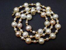 Ancien très beau collier de perles de culture et or 18k
