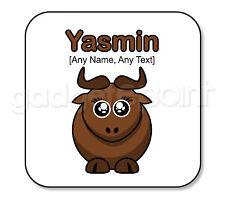 REGALO personalizzato Safari Animali WILDEBEEST GNU YAK BULL Sottobicchieri regalo divertente # 2