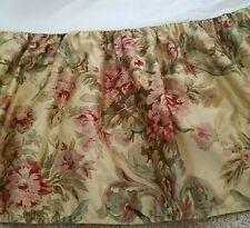 Ralph Lauren Chaps WESTBURY Bed Skirt QUEEN Tan Floral Pink Green