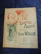 Partition Eternel Poème Weiller Music Sheet Grand Format
