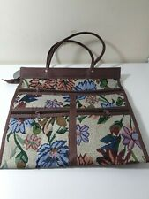 Vintage Style Tapestry Bag Lots of Pockets and Purse