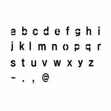 Stencils Alphabet Letter Airbrush Painting Decorative Wall Art Home Décor