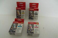 LOT-4 Canon BCI-6C BCI-6BK BCI-6M BCI-6Y C/M/Y/K Ink Cartridge Set for PIXMA NEW