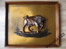 New listing Vintage Bull. Buffaloes. Copper. Electroforming. Art Decor Picture.
