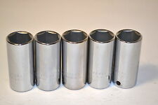 "5 NOS PROTO USA Professional 5024H 3/8"" Drive 6 Point 3/4"" DEEP SOCKETS #K106"