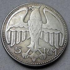 1935 Adolf Hitler 5 Reichsmark Exonumia Coin