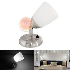 12v LED Frosted Spot Reading Light Interior Bedside Wall Lamp Caravan Trailer RV