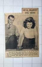 1949 Mr And Mrs Lilian Van Der Helden Of Reading Are To Remarry