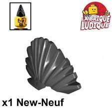Lego - 1x Minifig cheveux coiffure hair mohawk crete punk noir/black 93563 NEUF