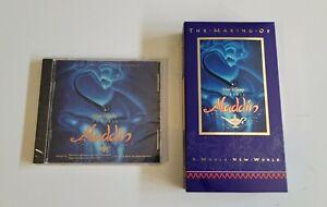 Aladdin Soundtrack CD Disney 1992 Collectors Edition + The Making Of Aladdin VHS