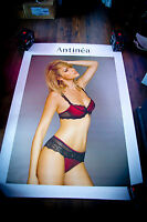ANTINEA LINGERIE 4x6 ft Bus Shelter Original Vintage Sexy Advertising Poster