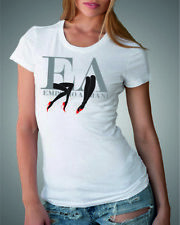 EMPORIO ARMANI White womens T-Shirt EA --Slim fit-- size S, M -pima cotton