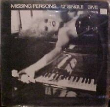 Missing Persons Give (extended), US 12""