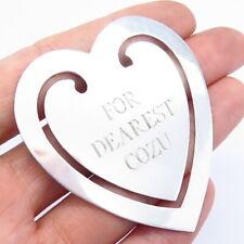 Tiffany & Co. Vintage 925 Sterling Silver Heart Shape Bookmark