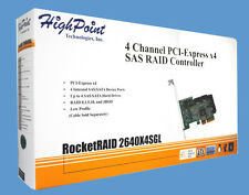 New HighPoint RocketRAID 2640X4SGL 4-Channel PCI-Express x4 SAS Raid Controller