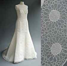 ANGEL SANCHEZ Daisy Lace Silk Wedding Dress UK 12-14 designer $7500 USD Mermaid
