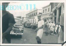 Photo Aden 1952 Royal Navy Sailors ashore Street Scene  3.25 x 2.25 inch