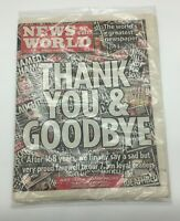 RARE News Of The World Newspaper Final Edition SEALED WITH MAGAZINE COLLECTORS