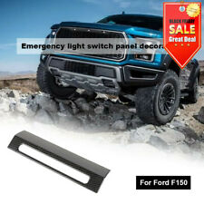 Fit Ford F150 Emergency Warning Light Lamp Switch Cover Trim Decor Carbon Fiber