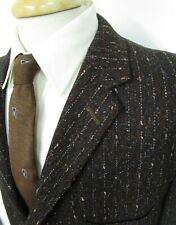 Vtg 1950s ATOMIC FLECK Blazer 42 R ~ jacket ROCKABILLY Elvis brown black wool