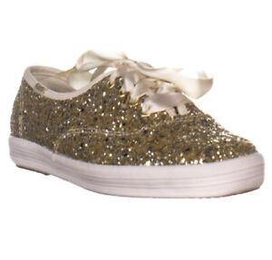 Keds x Kate Spade New York CH KS Glitter Lace Up Sneakers, Platinum U.K6.5 Eu 40