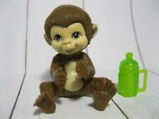 BARBIE DOLL career I can BE A zookeeper ZOO VET SET PET BABY MONKEY GREEN BOTTLE