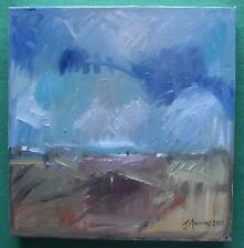 Original Expressionist Landscape Oil Painting by Jane Murray :  Gathering Storm