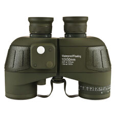 10X50 Multi Coated Waterproof Marine Hunting Binocular With Range Finder Compass