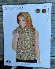 Sale! Rare Knitting Pattern: Lady'S Top By Plymouth
