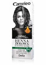 Cameleo Herbal Coloring Cream BLACK 1.0  Natural Henna with Moroccan Oil 75g