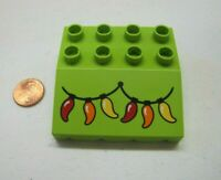 Vintage Lego Duplo CHILI PEPPER CHRISTMAS LIGHTS ROOF AWNING Overhang House