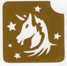 GT148 Body Art Temporary Glitter Tattoo Stencil Unicorn