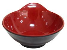 Japanese sauce bowl Melamine Plastic bowl Red black127x116x56mm