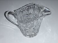 "VINTAGE Cut Pressed Clear Glass CREAMER PITCHER 3"" Tall"