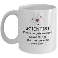 Science teacher student graduate Physics coffee mug - Scientist funny definition