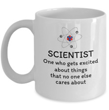 Science teacher student graduate Physics coffee mug - Scientist funny definition