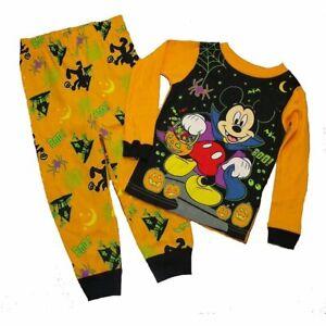 New Disney Mickey Mouse boys Halloween 3T toddler Halloween snug fit pajamas