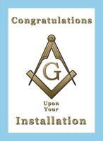 Worshipful Master Masonic greetings card, Irish Constitution