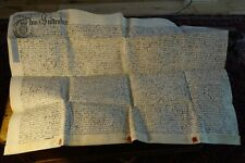 George II Parchment / Vellum Indenture 1729 - with Wax Seals & early Tax Stamps