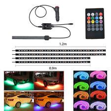 4X 90+120cm LED Neon Strip Light Kit Under Car Tube Underglow Atmosphere 12W