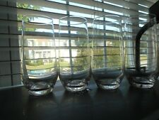 """A SET OF FOUR VILLEROY & BOCH GROUP  6"""" """"VIVO"""" CRYSTALINE GLASSES -VERY DELICATE"""