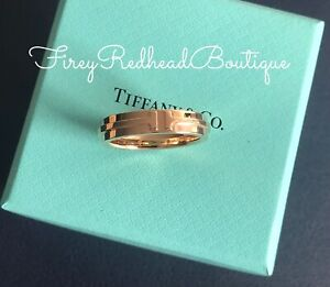 Tiffany & Co. T Ring - Rose Gold - Size 57