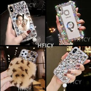 Bling Sparkle Diamonds Women Phone Cases For iPhone 12 11 Pro Max XS XR 7 8 + SE