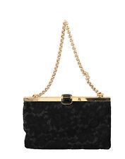 DOLCE & GABBANA Bag Purse Black Floral Lace Clutch Evening Party Borse RRP $1600
