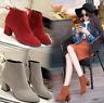 Women's High Heel Shoes Warm Martin Boots Autumn Winter Short Boot Plus Size
