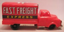 Old Tin Plastic Fric Toy Advertising Truck FAST FREIGHT EXPRESS Japan 1950s-60s